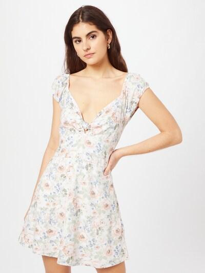 Abercrombie & Fitch Kleid in hellblau / oliv / rosa / weiß, Modelansicht