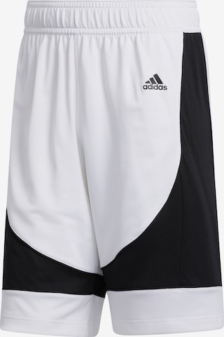 Pantalon de sport ADIDAS PERFORMANCE en blanc