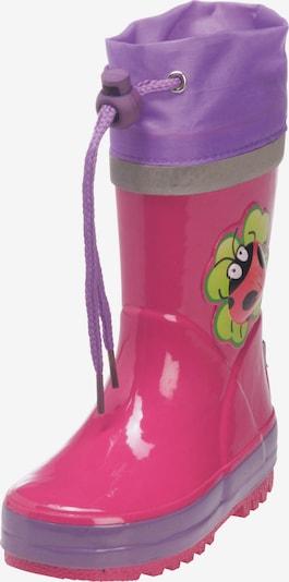 PLAYSHOES Rubber boot 'Glückskäfer' in Light green / Light purple / Pink / Black, Item view