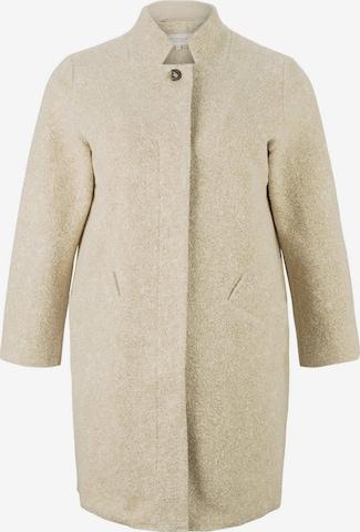 MY TRUE ME Between-Seasons Coat 'Boucle' in Beige