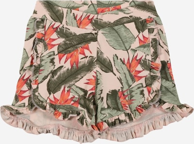 NAME IT Pantalon en kaki / olive / pitaya / rose pastel / rouge orangé: Vue de face