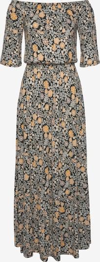 Vasarinė suknelė iš LASCANA, spalva – šafrano spalva / rausvai pilka / margai pilka / juoda, Prekių apžvalga