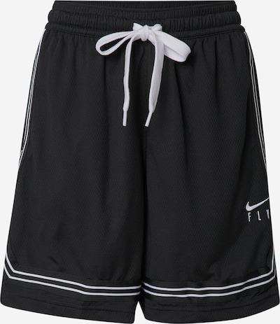 NIKE Workout Pants in Black / White, Item view