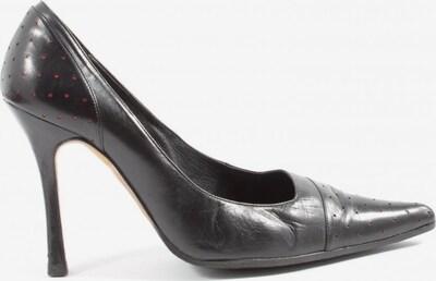 Carolina Herrera Spitz-Pumps in 38 in rot / schwarz, Produktansicht