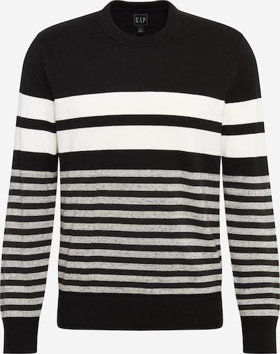 GAP Pulover 'Mainstay' | črna / bela barva, Prikaz izdelka