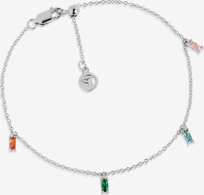 Sif Jakobs Armband in hellblau / grasgrün / rosa / orangerot / silber, Produktansicht