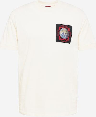 Tricou 'Dringsteen' HUGO pe mov pastel / roz pudră / roșu rodie / negru / alb murdar, Vizualizare produs