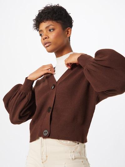 Kardiganas iš OBJECT , spalva - ruda, Modelio vaizdas