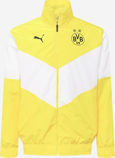 PUMA Veste de sport 'BVB Prematch' en jaune / blanc, Vue avec produit