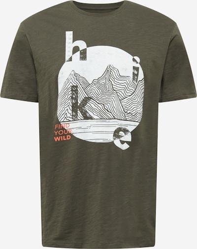 EDC BY ESPRIT Shirt in Khaki / Coral / White, Item view