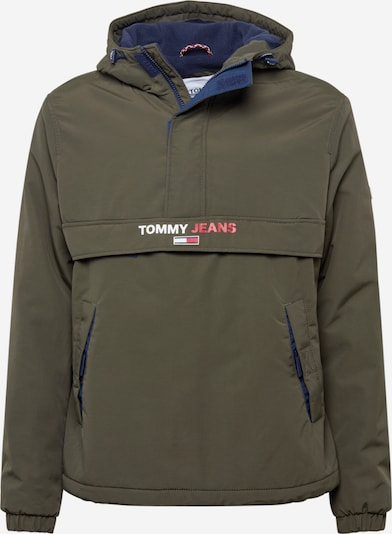 Tommy Jeans Tussenjas in de kleur Olijfgroen, Productweergave