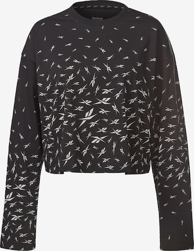 Reebok Sport Functioneel shirt in de kleur Zwart / Wit, Productweergave