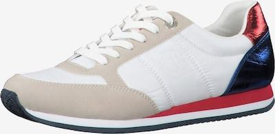 s.Oliver Zapatillas deportivas bajas en beige / azul oscuro / rojo / blanco, Vista del producto