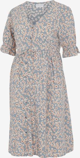 Pieces Maternity Kleid 'CINDY' in grau / orange / schwarz / weiß, Produktansicht