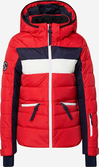 Superdry Snow Outdoorjas in de kleur Navy / Vuurrood / Wit, Productweergave