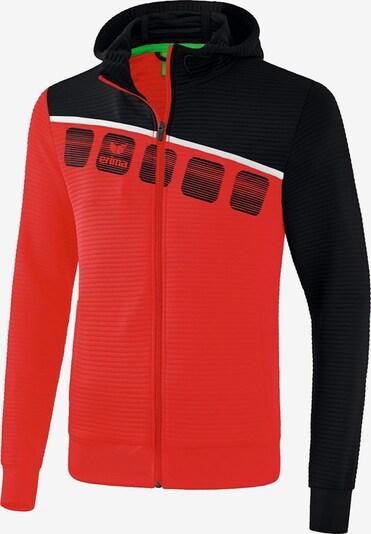 ERIMA Jacke in rot / schwarz / weiß, Produktansicht