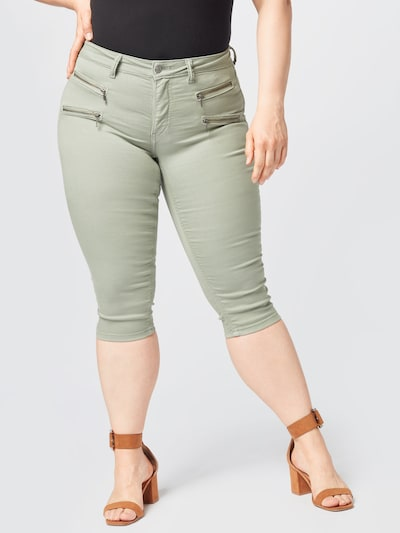 ONLY Carmakoma Kalhoty - khaki, Model/ka