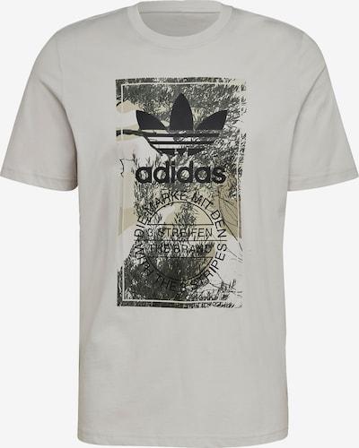 ADIDAS ORIGINALS Shirt in de kleur Taupe / Lichtgrijs / Donkergrijs / Zwart: Vooraanzicht