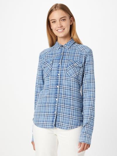 LTB Блуза 'Lucinda' в светлосиньо / тъмносиньо / бяло, Преглед на модела