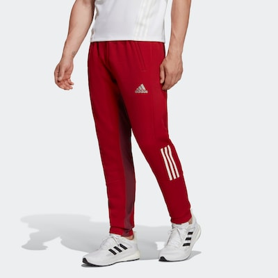 Pantaloni sport ADIDAS PERFORMANCE pe roșu / alb, Vizualizare model