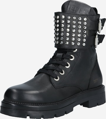 REPLAY Lace-Up Ankle Boots 'Pamela - Mykita' in Black