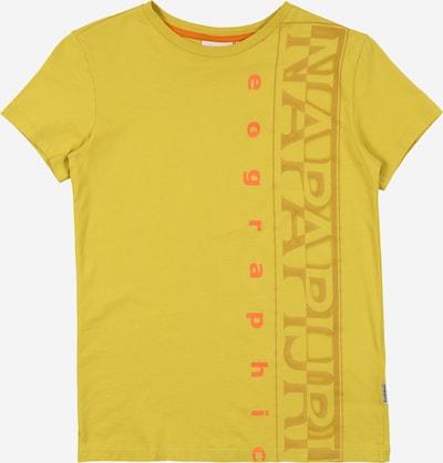 NAPAPIJRI Shirt 'SADYR' in gelb / dunkelgelb / hellrot, Produktansicht