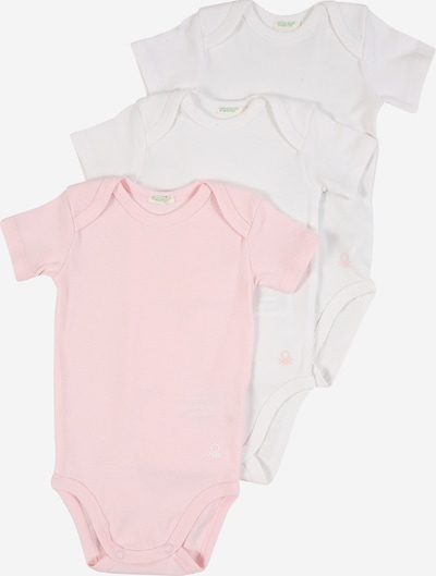 UNITED COLORS OF BENETTON Barboteuse / body en rose / blanc, Vue avec produit