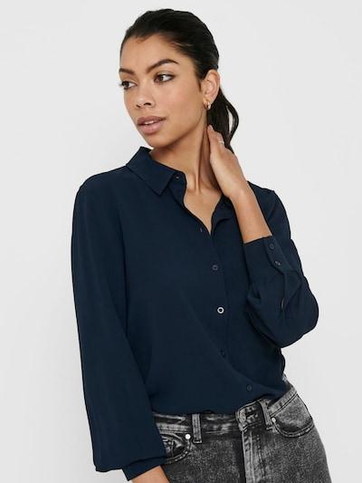 JACQUELINE de YONG Blusa en azul oscuro, Vista del modelo