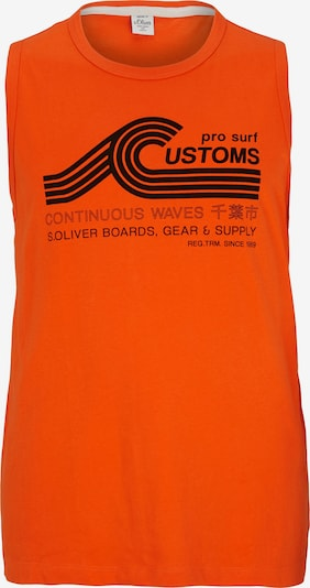 s.Oliver Men Big Sizes Tanktop in orange / schwarz, Produktansicht