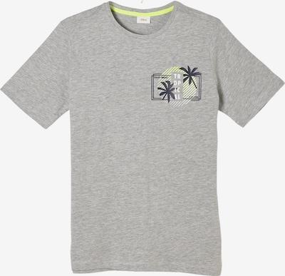 s.Oliver Shirt in de kleur Geel / Grijs gemêleerd / Zwart / Wit, Productweergave