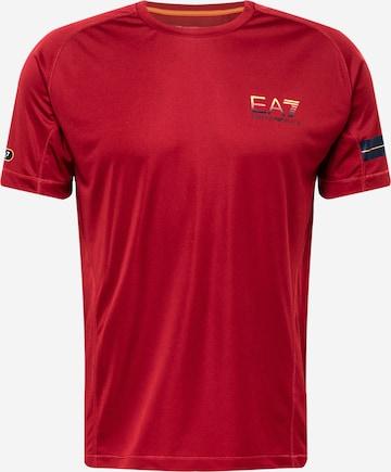 EA7 Emporio Armani T-Shirt in Rot