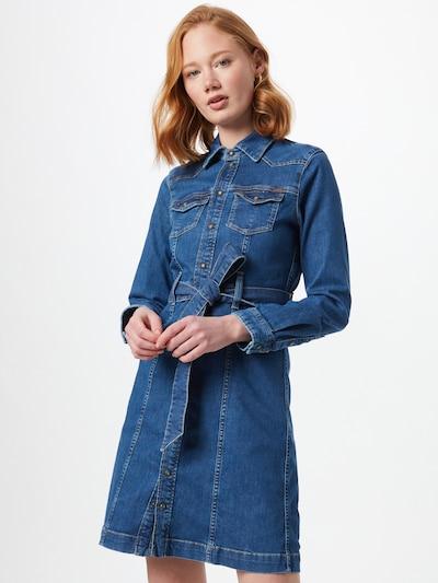 Rochie tip bluză Pepe Jeans pe albastru denim, Vizualizare model