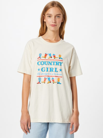Daisy Street Shirt 'TYLER' in mischfarben / weiß: Frontalansicht