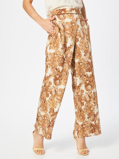 MOS MOSH Pants 'Niki' in Brown / White, View model