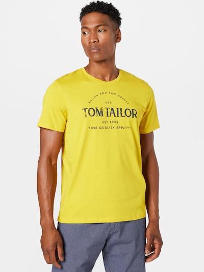 TOM TAILOR Тениска в нейви синьо / лимоненожълто: Изглед отпред