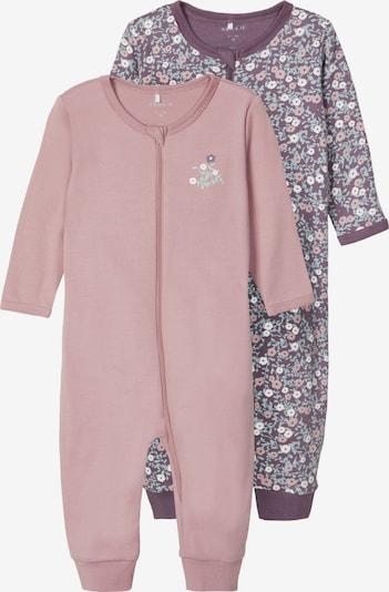 NAME IT Schlafanzug in pflaume / mischfarben / rosé, Produktansicht