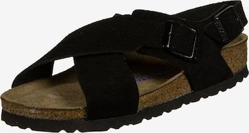 BIRKENSTOCK Sandale 'Tulum' in Schwarz