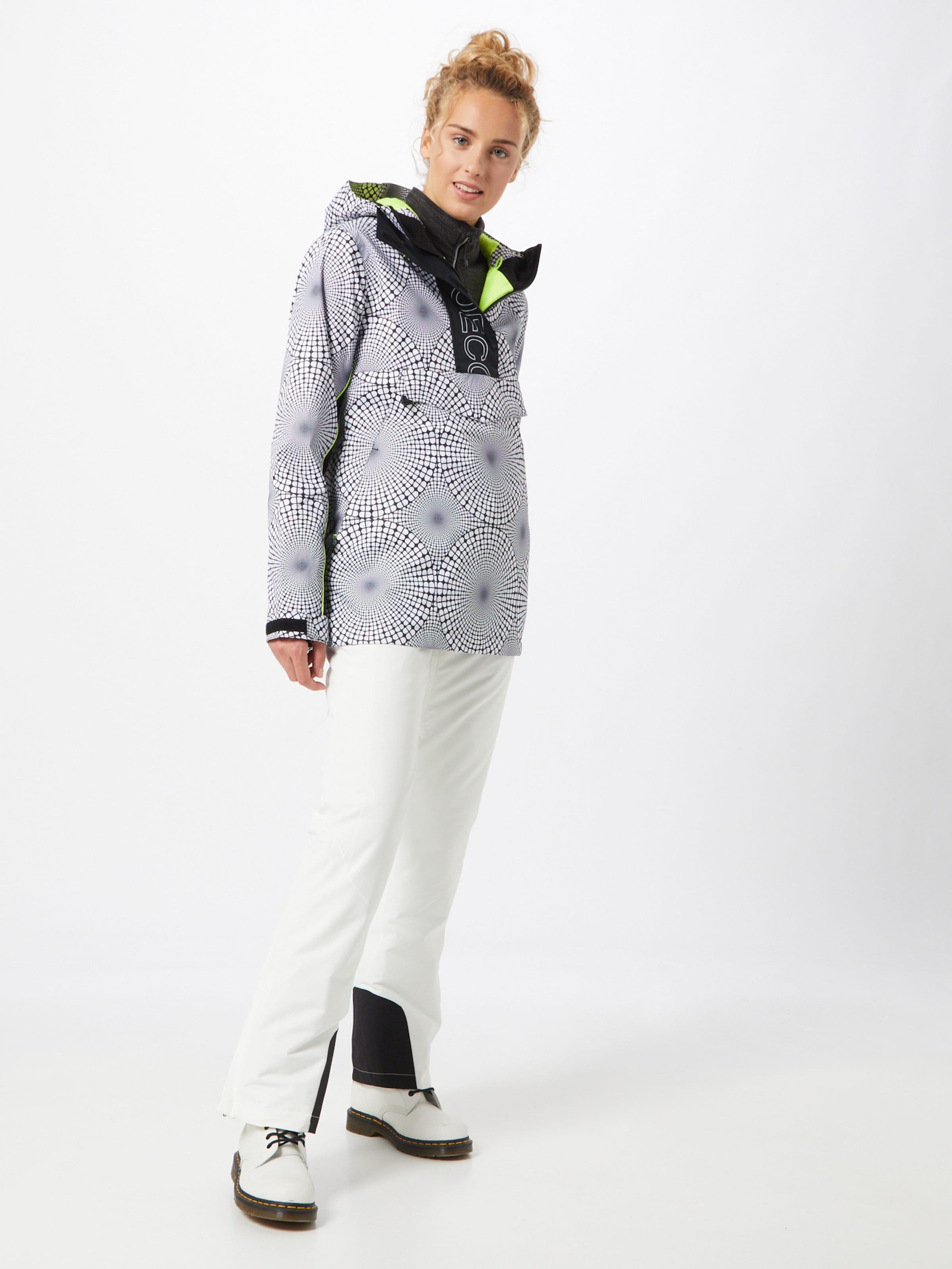 DC Shoes Vinterjacka 'Envy' i svart / vit
