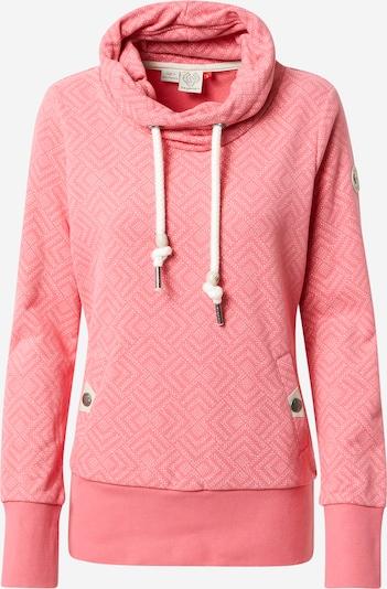 Ragwear Sweatshirt 'RYLIE' in pink / weiß, Produktansicht