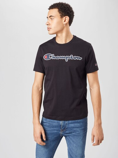 Champion Authentic Athletic Apparel T-Shirt in navy / rot / schwarz / weiß: Frontalansicht