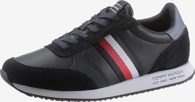 TOMMY HILFIGER Sneaker in navy / taubenblau / rot / weiß, Produktansicht