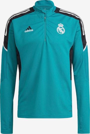 ADIDAS PERFORMANCE Sportsweatshirt in türkis / schwarz / weiß, Produktansicht