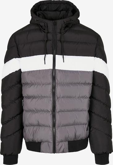 Urban Classics Winterjas in de kleur Grijs / Zwart / Wit, Productweergave