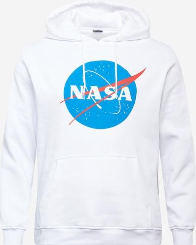 Mister Tee Plus Size Sportisks džemperis 'NASA' zils / pasteļsarkans / gandrīz balts, Preces skats