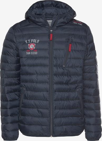 Tom Tailor Polo Team Jacke in dunkelblau / blutrot, Produktansicht