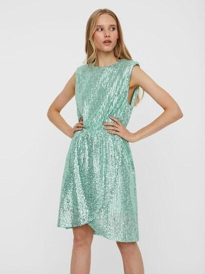 VERO MODA Šaty - světle zelená / stříbrná, Model/ka