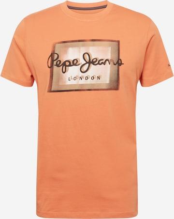 Pepe Jeans Тениска 'WESLEY' в оранжево