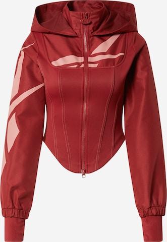 Reebok Classics Zip-Up Hoodie 'Cardi B Corset' in Red