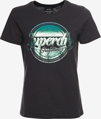 Superdry Shirt in de kleur Donkergrijs / Groen / Wit: Vooraanzicht
