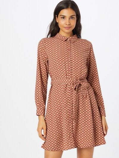 Rochie tip bluză 'MALENE' JDY pe crem / castaniu / roșu, Vizualizare model